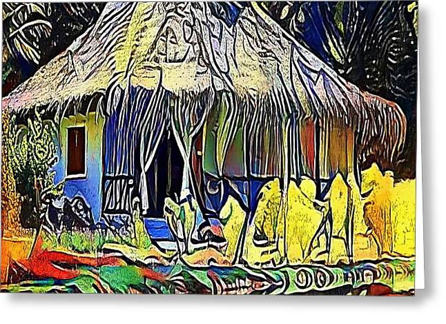 African House - My Www Vikinek-art.com Greeting Card by Viktor Lebeda