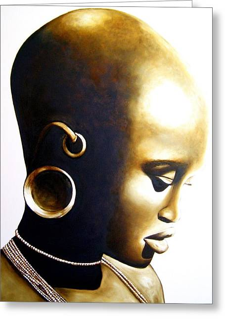 African Lady - Original Artwork Greeting Card