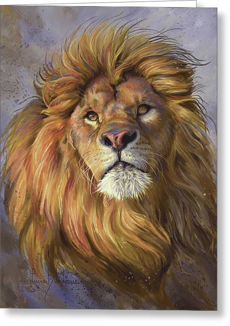 African Lion Greeting Card