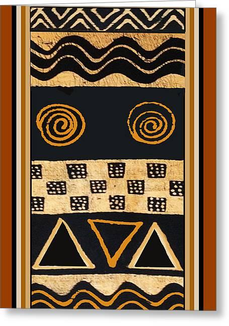 African Primordial Spirits - 2 Greeting Card
