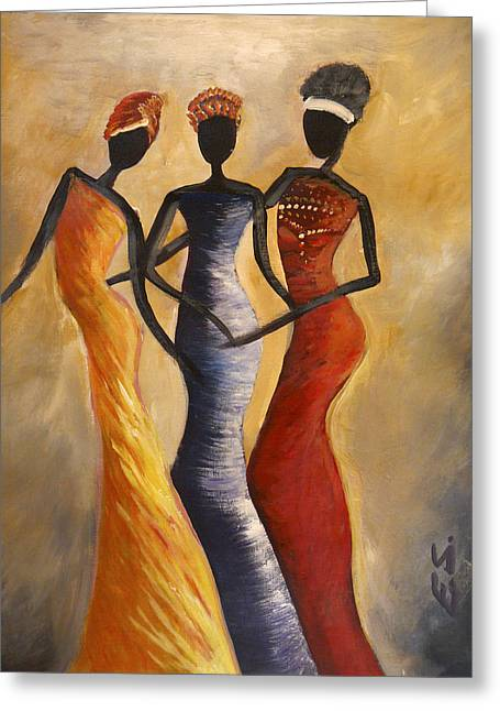 African Queens Greeting Card by Evon Du Toit