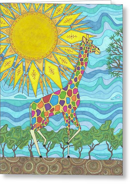 African Rainbow Greeting Card
