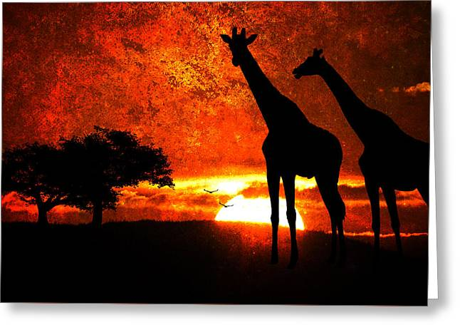 African Safari Greeting Card
