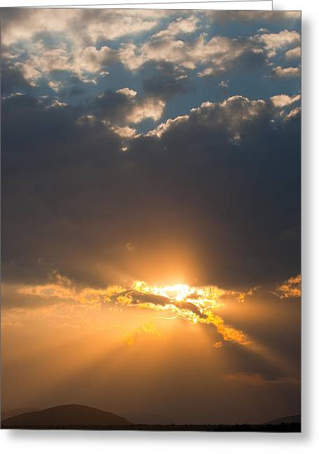 African Sunset Greeting Card by Paco Feria