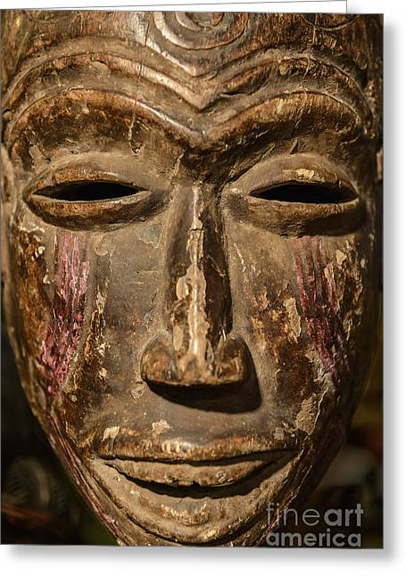 African Tribal Mask. Greeting Card by John Greim
