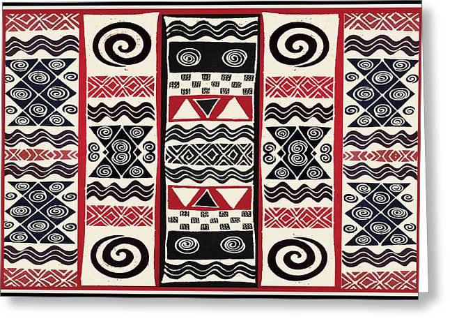 African Tribal Ritual Design Greeting Card