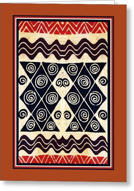 African Tribal Textile Design Greeting Card