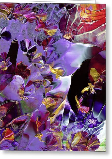 African Violet Awake #2 Greeting Card