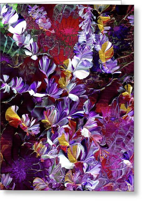 African Violet Awake #4 Greeting Card