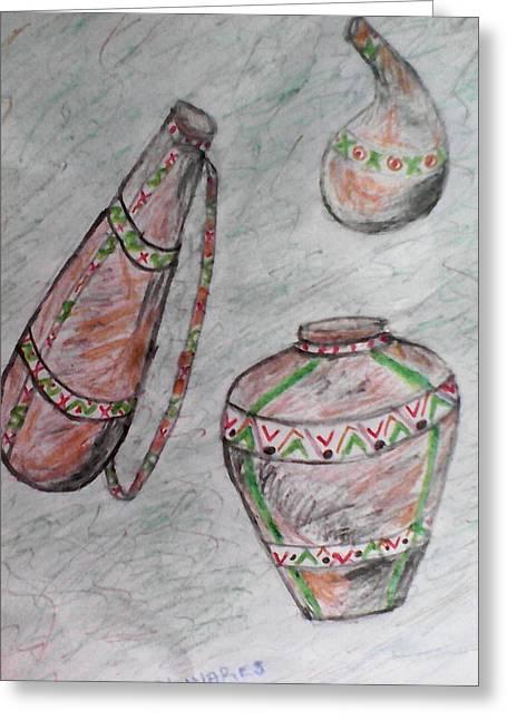 African Wares Greeting Card by John Ngaruiya