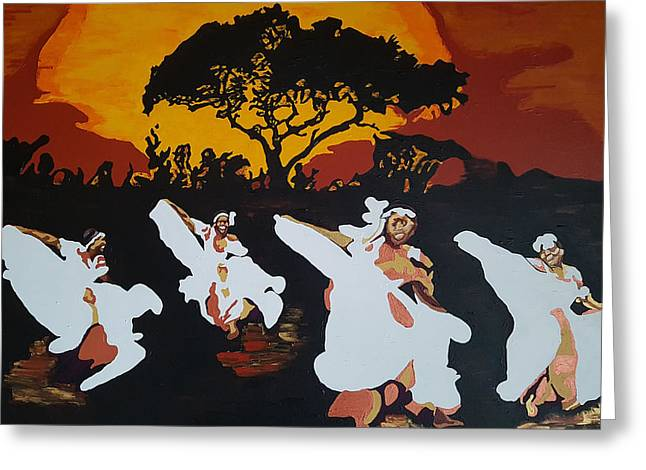 Afro Carib Dance Greeting Card