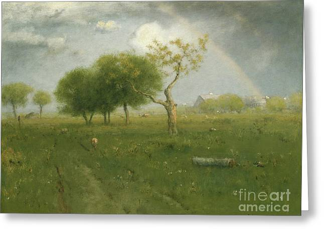 After A Summer Shower Greeting Card by George Inness