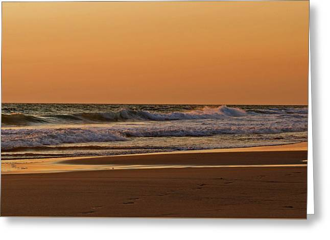 After A Sunset Greeting Card by Sandy Keeton