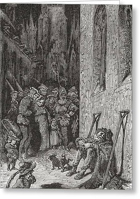 After A Work By Gustave Dore For Balzac Greeting Card by Vintage Design Pics