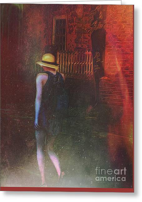 After Dark Greeting Card by Alexis Rotella
