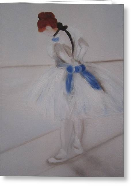 After Degas Ballerina Rehearsing Greeting Card by Maro Kirby
