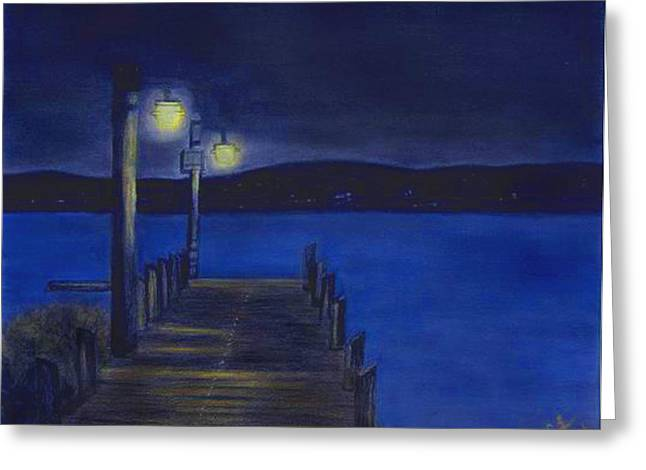 After Dinner Walk Greeting Card by Cindy Gray