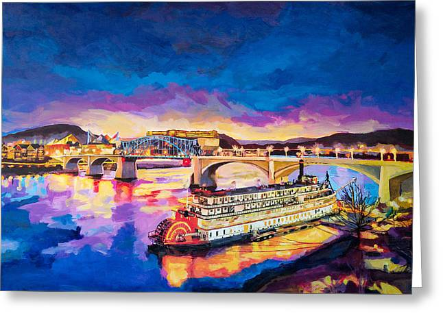 After Dusk Painting Greeting Card