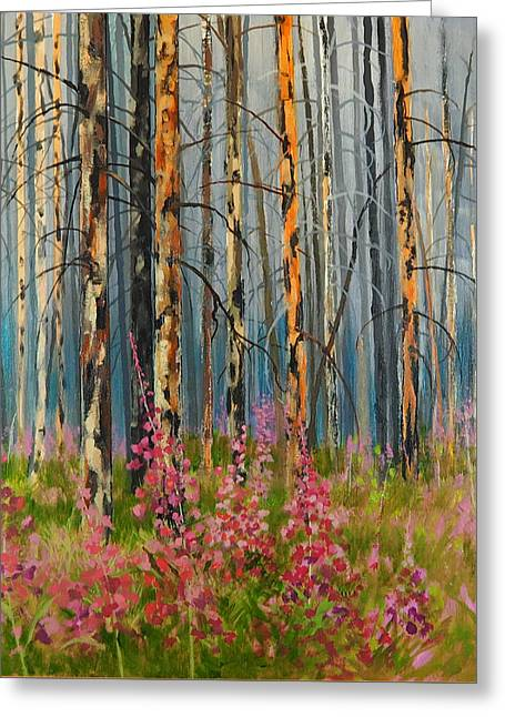 After Forest Fire Greeting Card