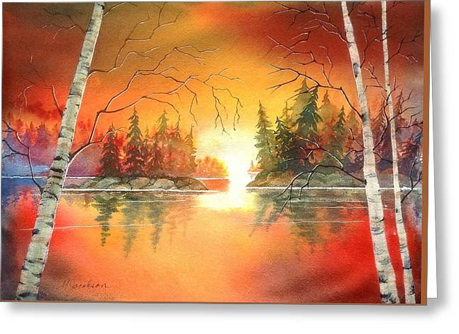 After Glow Greeting Card by Marilyn Jacobson