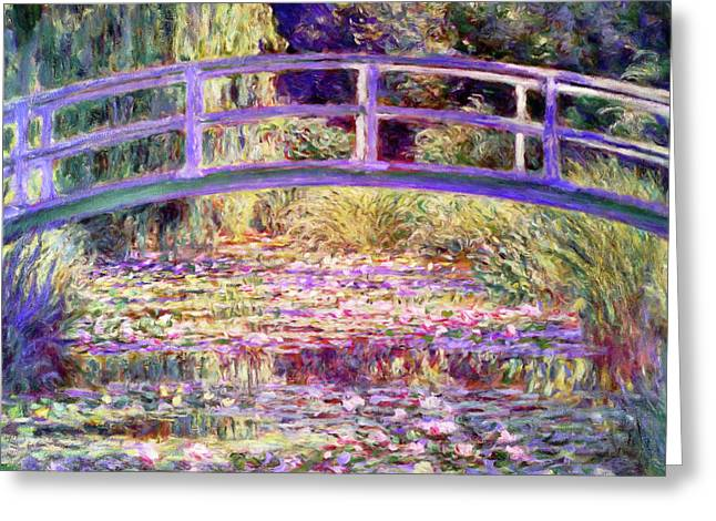 After Monet Water Lily Pond Greeting Card