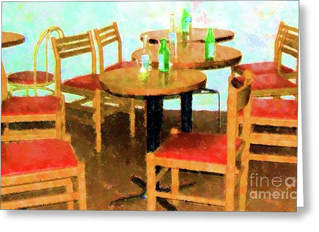 After Party Greeting Card by Debbi Granruth