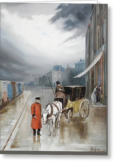 After Rain - Chelsea Greeting Card by Augustus Mulready