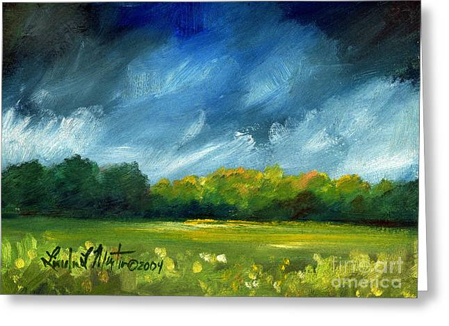 After Spring Rain Greeting Card