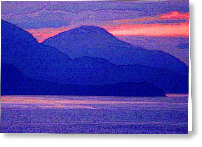 After Sunset Mountains 5 Pd Greeting Card by Lyle Crump