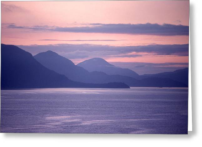 After Sunset Mountains 62 Greeting Card