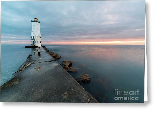 After Sunset On The Pier Greeting Card
