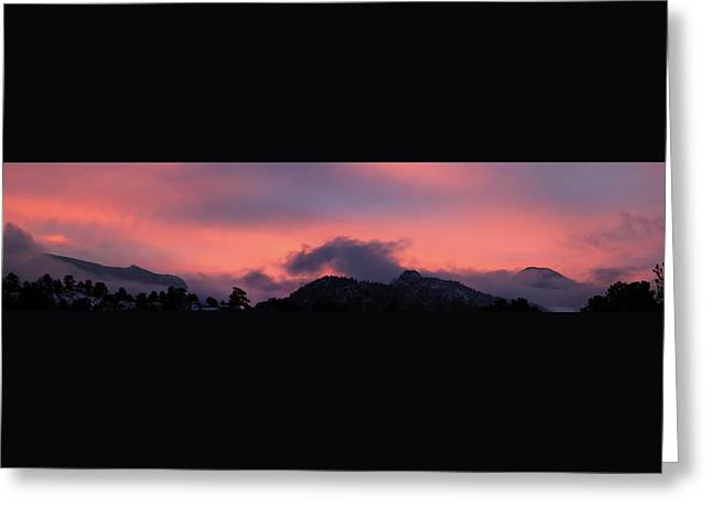 After Sunset - Panorama Greeting Card by Shane Bechler