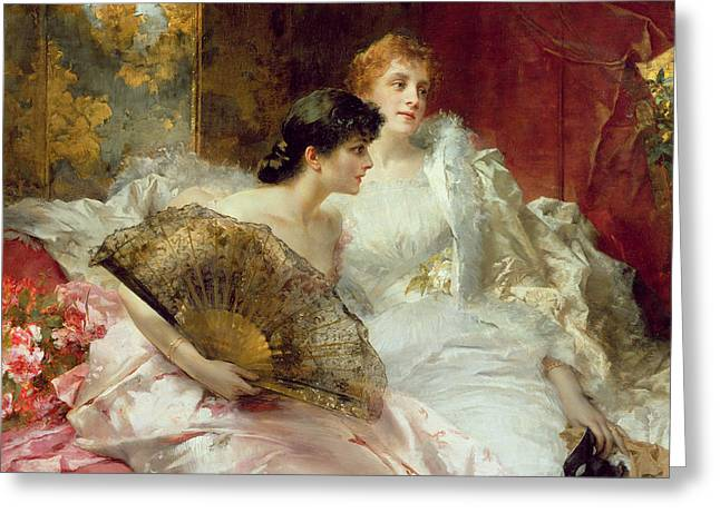 The Ball Greeting Cards - After the Ball Greeting Card by Conrad Kiesel
