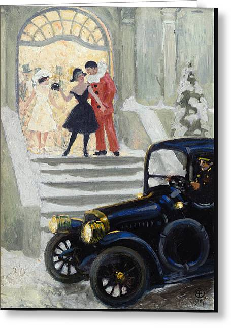 After The Ball Greeting Card by Paul Fischer