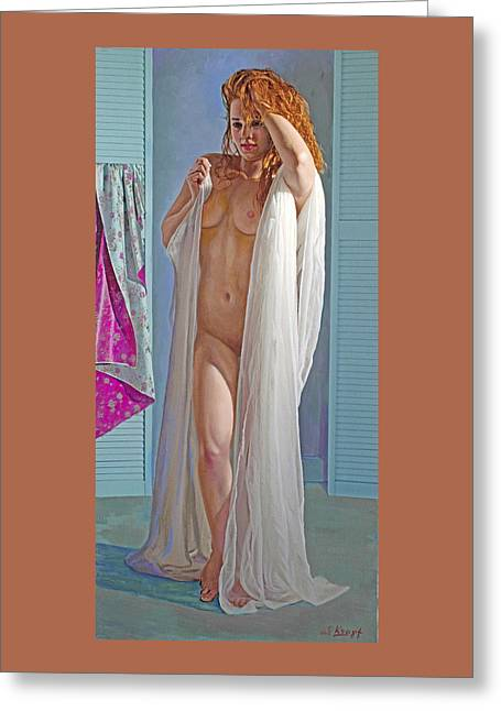 After The Bath Greeting Card by Paul Krapf