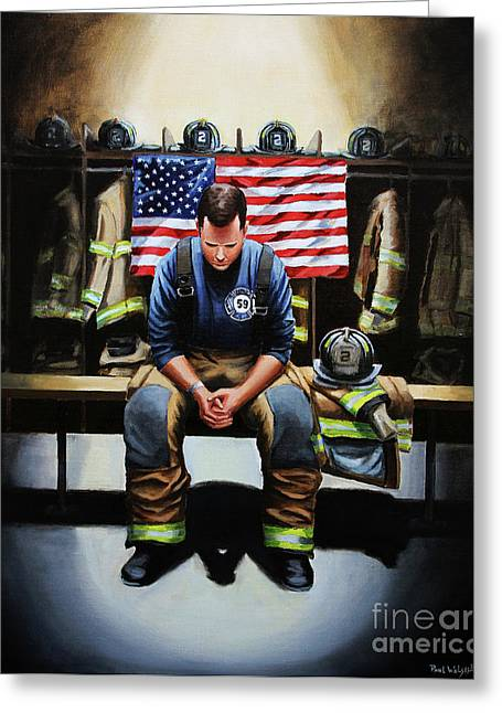 After The Fire Greeting Card by Paul Walsh