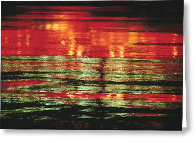 Total Abstract Greeting Cards - After The Rain Abstract 1 Greeting Card by Tony Cordoza