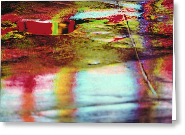Total Abstract Greeting Cards - After The Rain Abstract 2 Greeting Card by Tony Cordoza