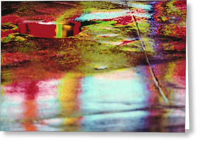 After The Rain Abstract 2 Greeting Card by Tony Cordoza