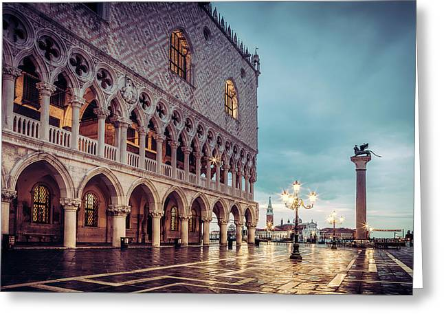 Greeting Card featuring the photograph After The Rain At St. Mark's by Andrew Soundarajan