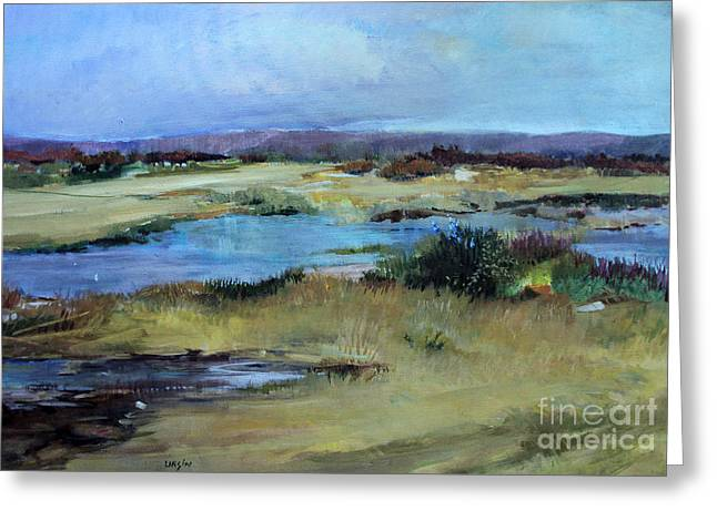 Greeting Card featuring the painting After The Rain by Diane Ursin