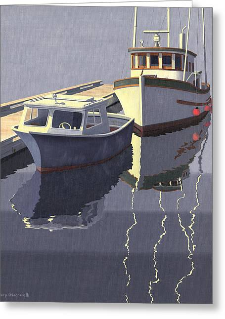 Greeting Card featuring the painting After The Rain by Gary Giacomelli