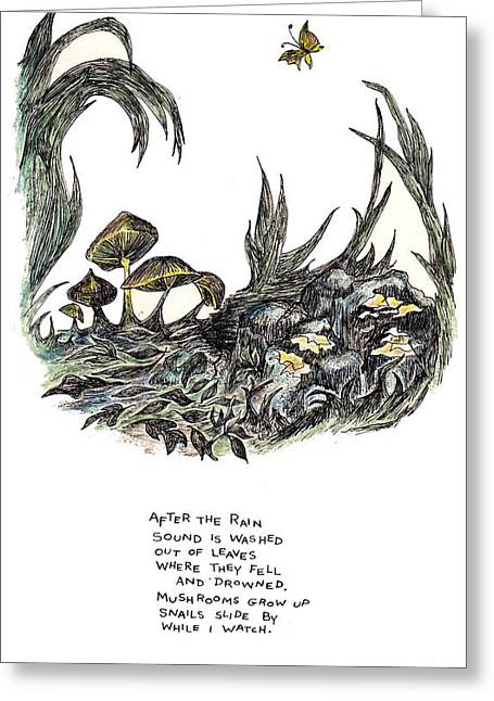 After The Rain Greeting Card by Lily Hymen