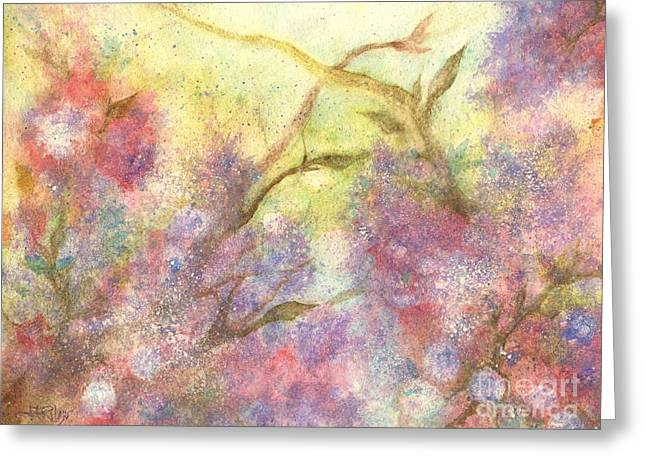 After The Rain - May Flowers Greeting Card by Janine Riley