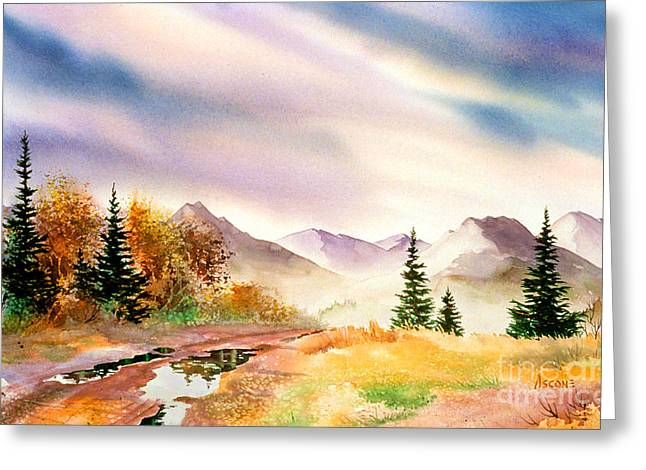 Greeting Card featuring the painting After The Rain by Teresa Ascone