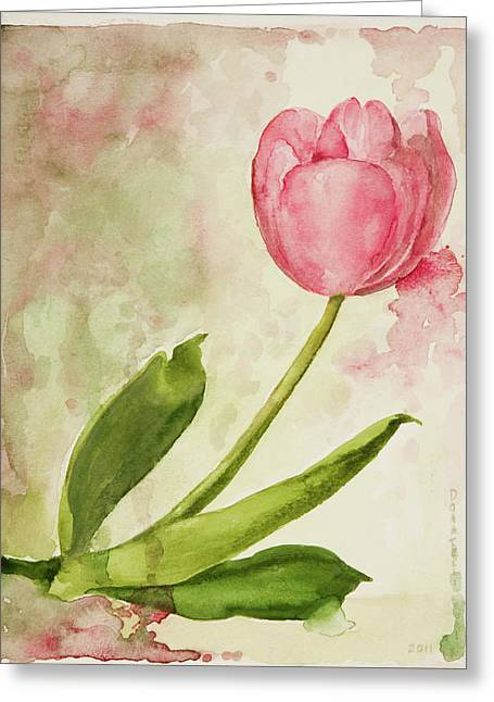 After The Rain  Tulip 2 Greeting Card