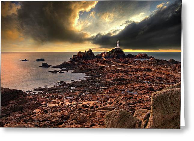 after the storm at La Corbiere Greeting Card