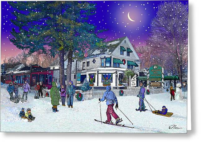 After The Storm At Woodstock Inn Greeting Card