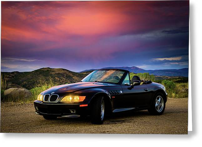 After The Storm - Bmw Z3 Greeting Card