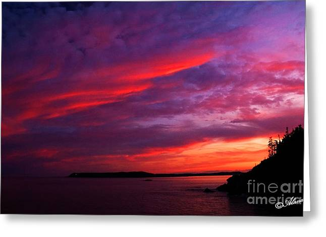 Greeting Card featuring the photograph After The Storm Sunset by Alana Ranney